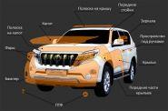 Зашитные антигравийные пленки для Toyota Land Cruiser Prado  -