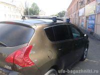 Багажник на крышу Peugeot 3008, Атлант, прямоугольные дуги