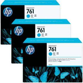CR272A  Голубые картриджи  оригинальные  HP 761, 400 мл, 3 шт. в упаковке