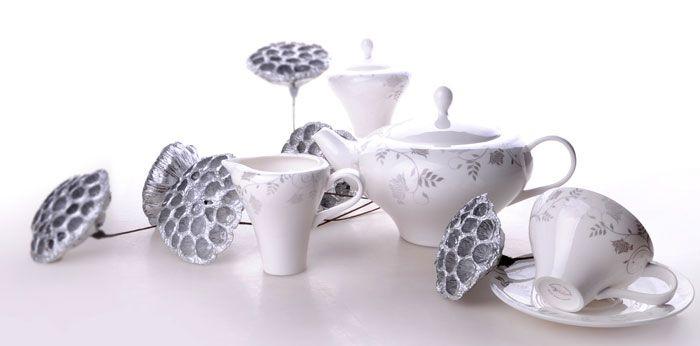 "Чайный сервиз на 6 персон ""Гранж"", 15 пр."
