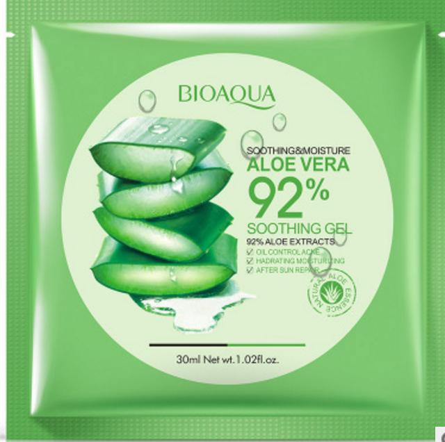 Увлажняющая тканевая маска для лица с экстрактом Алоэ Вера Bioaqua