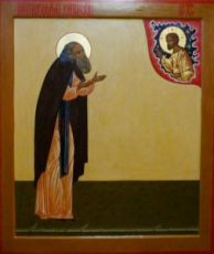 Икона Варлаам Хутынский (рукописная)