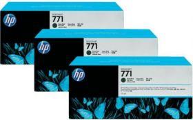 B6Y31A  Тройная упаковка картриджей  оригинальных  с чернилами матового черного цвета HP № 771 емкостью 775 мл