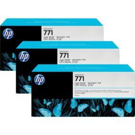 B6Y36A  Тройная упаковка картриджей  оригинальных  со светло-голубыми чернилами Designjet HP 771 емкостью 775 мл