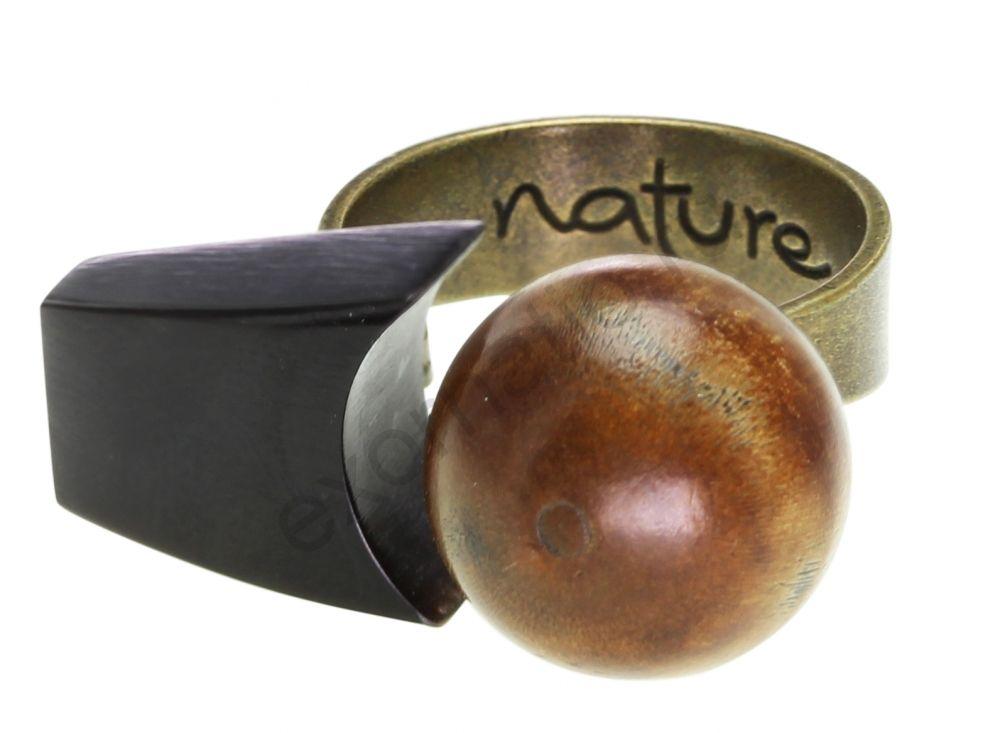 Кольцо NATURE BIJOUX 19-22005. Коллекция TERRE BRUNE