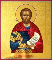 Виктор Халкидонский (рукописная икона)