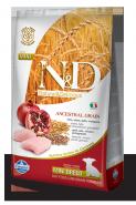 N&D Dog Low Grain Chicken & Pomegranate Mini Puppy Низкозерновой корм для щенков, беременных и кормящих собак мелких пород Курица/гранат (2,5 кг)