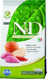 N&D Cat Grain Free Boar & Apple Adult Беззерновой корм для взрослых кошек, кабан/яблоко (10 кг)