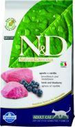N&D Cat Grain Free Lamb & Blueberry Adult Беззерновой корм для взрослых кошек, ягненок/черника (10 кг)