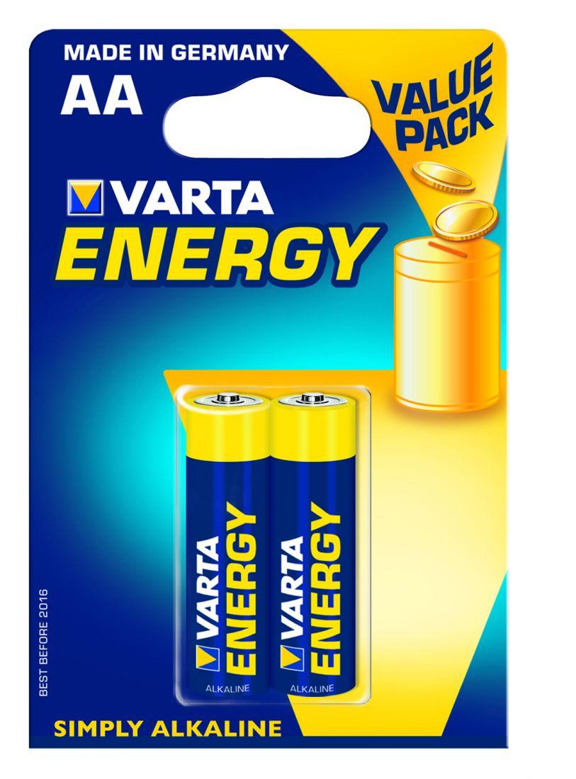 Батарейка ENERGY AA/LR06 бл 2шт.VARTA 4106213412