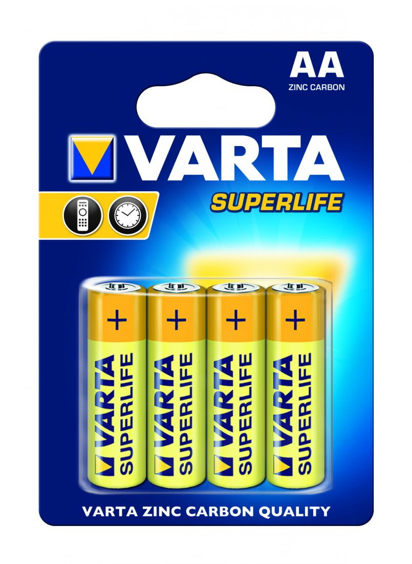 Батарейка SUPERLIFE AA/LR06 бл 4шт.VARTA 2006113414