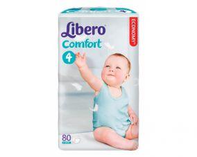 Подгузники Libero Comfort 4 (7-14 кг) 80 шт