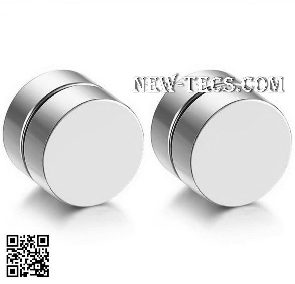 Магнитные серьги стальные (4 шт)