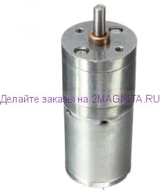 Микро мотор с редуктором JGA25-370  60 об/мин, 12 В