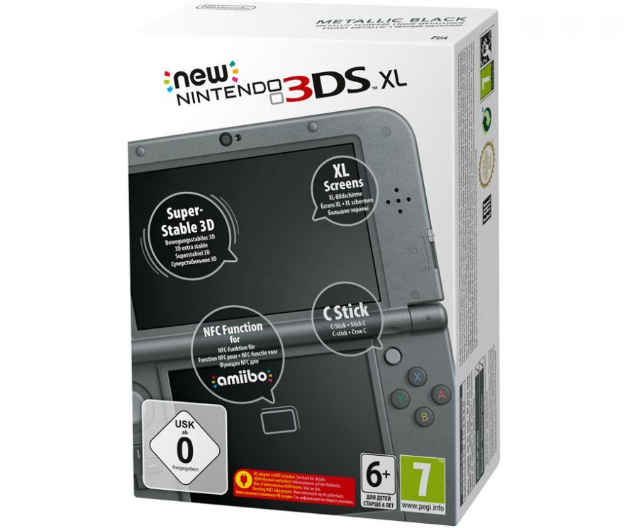 Игровая приставка New Nintendo 3DS XL Black (Черный)