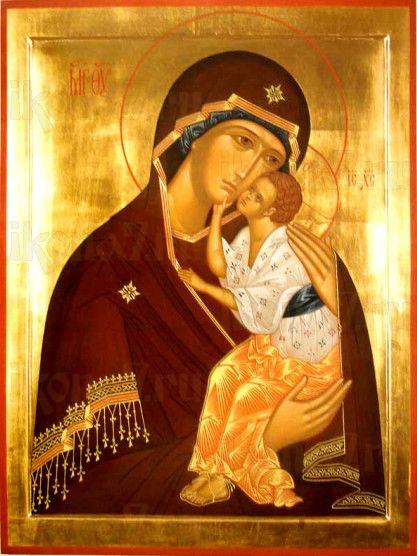 Ярославская икона Божией Матери (рукописная)