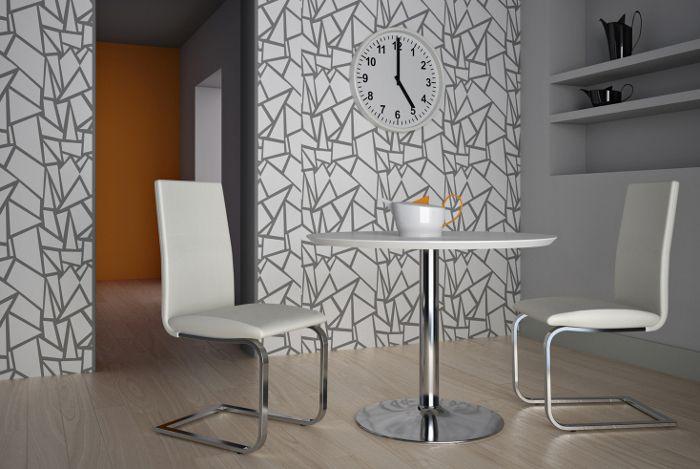 Круглый стол с белой лакированной столешницей Elio 100