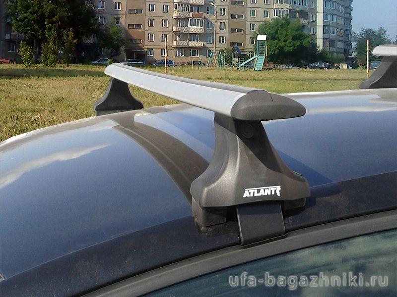 Багажник на крышу Mazda 3 (2013г.-...), Атлант, крыловидные дуги, опора Е