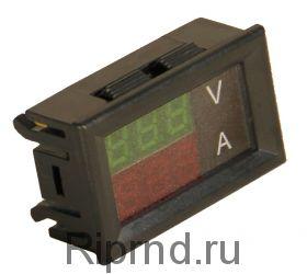 Ампер-вольтметр-ваттметр постоянного тока ВАВПТ2-028-v-F 100В 20А