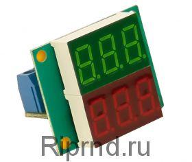 Ампер-вольтметр-ваттметр постоянного тока ВАВПТ2-036-v 100В 20А