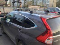 Багажник на крышу Honda CR-V 4 (с 2012 г.), Lux, аэродинамические дуги (53 мм) на интегрированные рейлинги