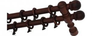 Карниз деревянный ДК 21 мокко