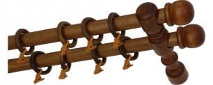 Карниз деревянный ДК 21 рустикальный дуб