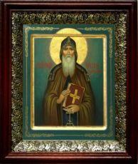 Никон Печерский (19х22), темный киот