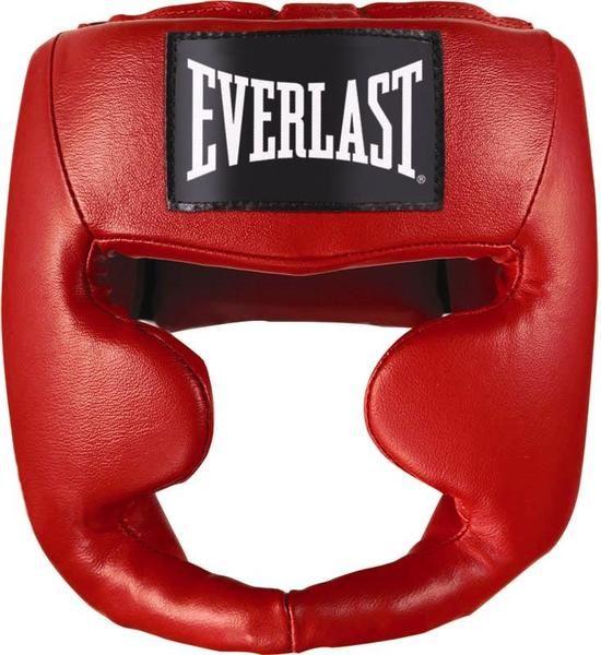 Шлем боксёрский Everlast Martial Arts Leather Full Face S/M красный, артикул 7620SMU