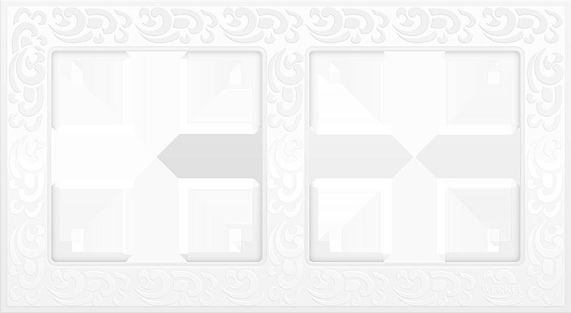 Рамка 2п WL05-Frame-02(белый)
