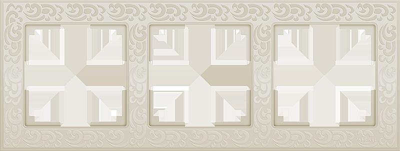 Рамка 3п WL05-Frame-03(слоновая кость)