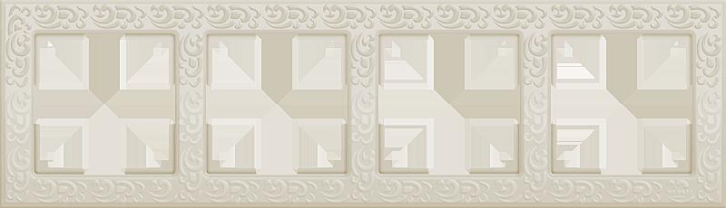 Рамка 4п WL05-Frame-04(слоновая кость)