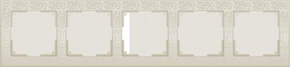 Рамка 5п WL05-Frame-05(слоновая кость)
