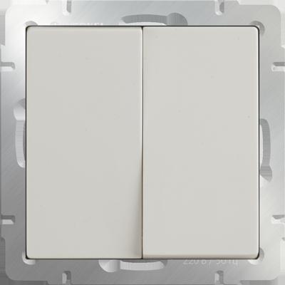 Выключатель 2 кл прох. WL03-SW-2G-2W(слоновая кость)