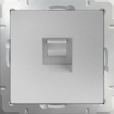 Розетка Ethernet WL06-RG-45 (серебряный)