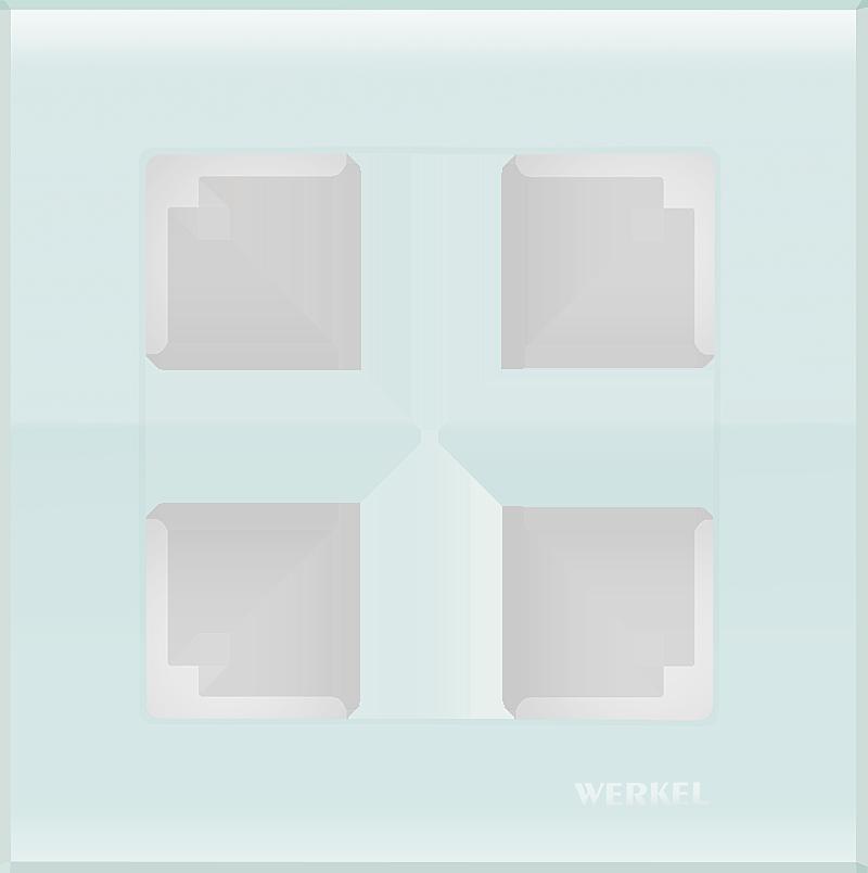 Рамка 1п WL01-Frame-01(белый,стекло)