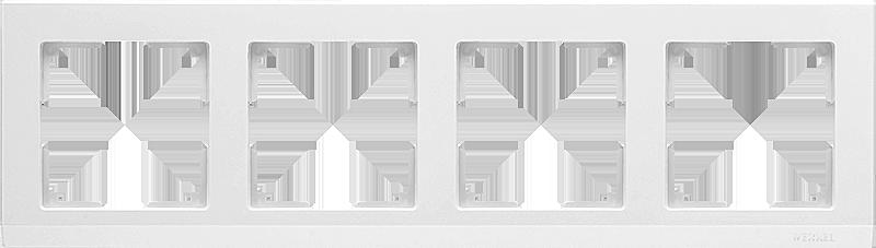 Рамка WERKEL  4п.белый WL04-Frame-04