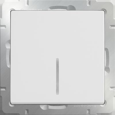 Выключатель WERKEL 1кл.с инд.белый WL01-SW-1G-LED