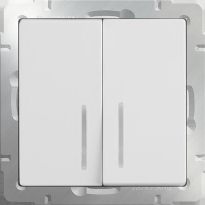 Выключатель WERKEL 2кл.с инд.белый WL01-SW-2G-LED