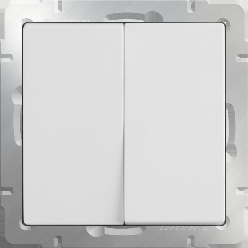 Выключатель WERKEL 2кл.белый WL01-SW-2G