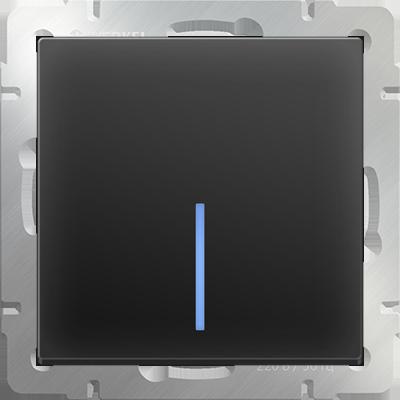 Выключатель WERKEL 1кл.с инд.WL08-SW-1G-LED черн.