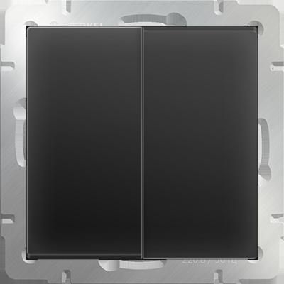 Выключатель WERKEL 2кл. WL08-SW-2G черн.