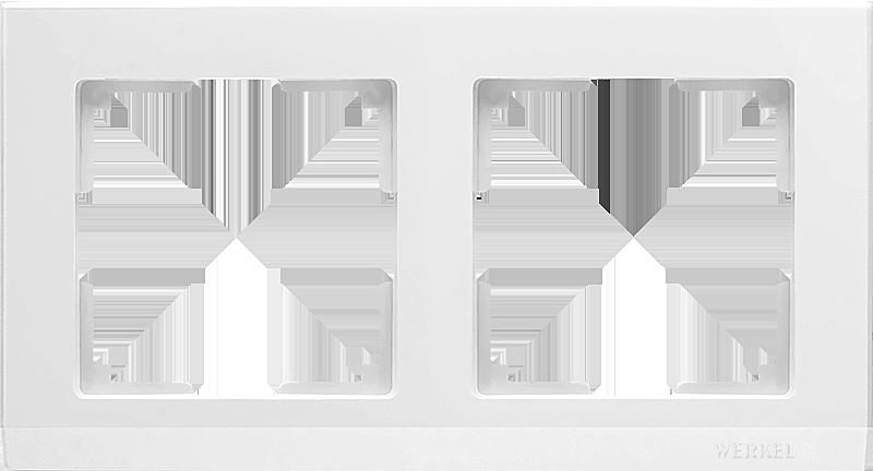 Рамка WERKEL 2п.белая WL04-Frame-02
