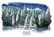 "Фон стена ""Winter wall №5"""