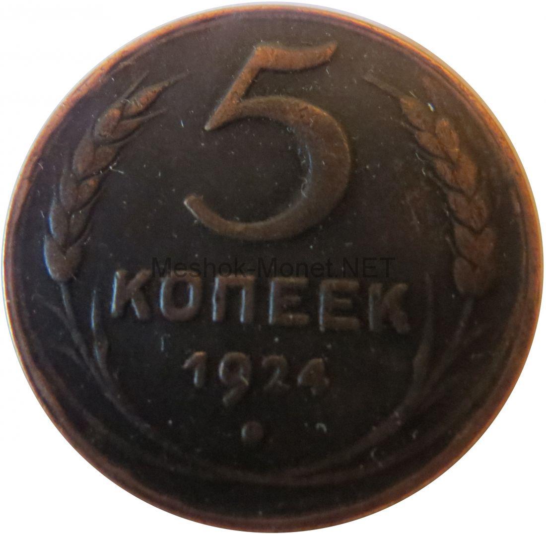 Копия монеты 5 копеек 1924 года