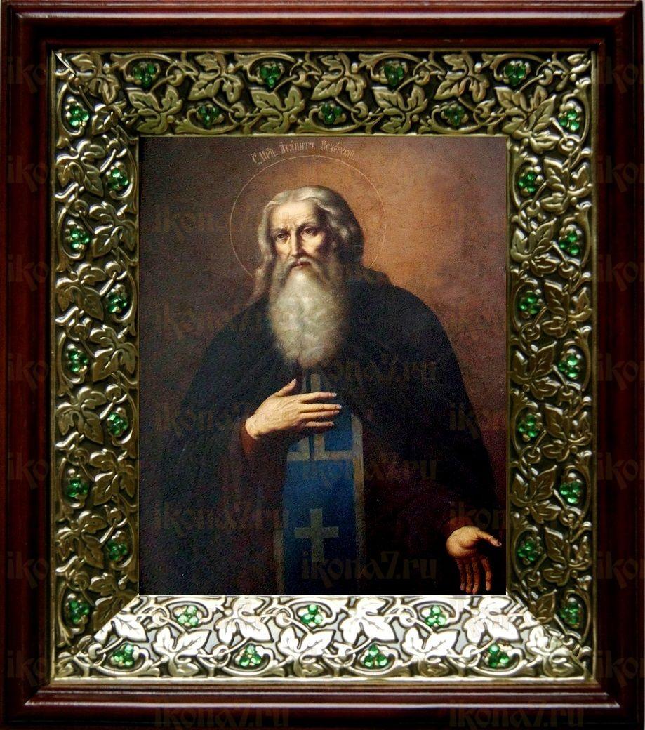Агапит Печерский (21х24), киот со стразами