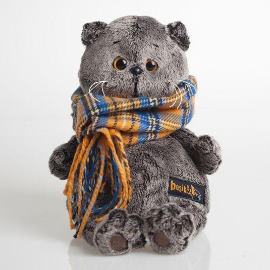 Кот Басик в шарфе в клеточку KS22-002