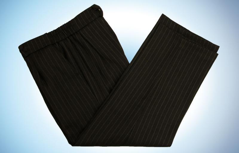 Нарядные брюки для мальчика в полоску
