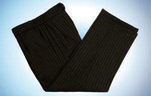 нарядные черные брюки в полоску для мальчика