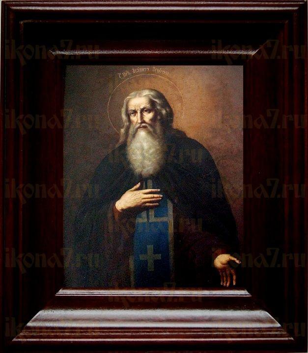 Агапит Печерский (21х24), простой киот